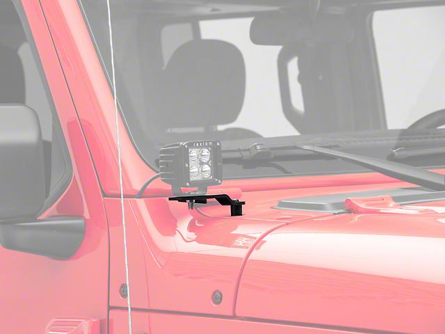 KC HiLiTES A-Pillar/Cowl Light Mounts (20-22 Jeep Gladiator JT, Excluding Mojave)