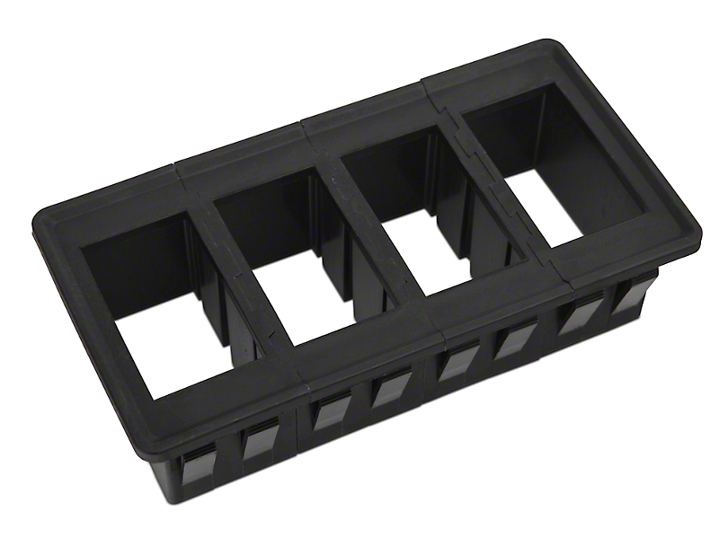 Rugged Ridge Rocker Switch Housing Kit - Mounts up to 4 Switches
