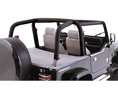 Rugged Ridge Full Roll Bar Cover Kit - Black Diamond (97-02 Wrangler TJ)