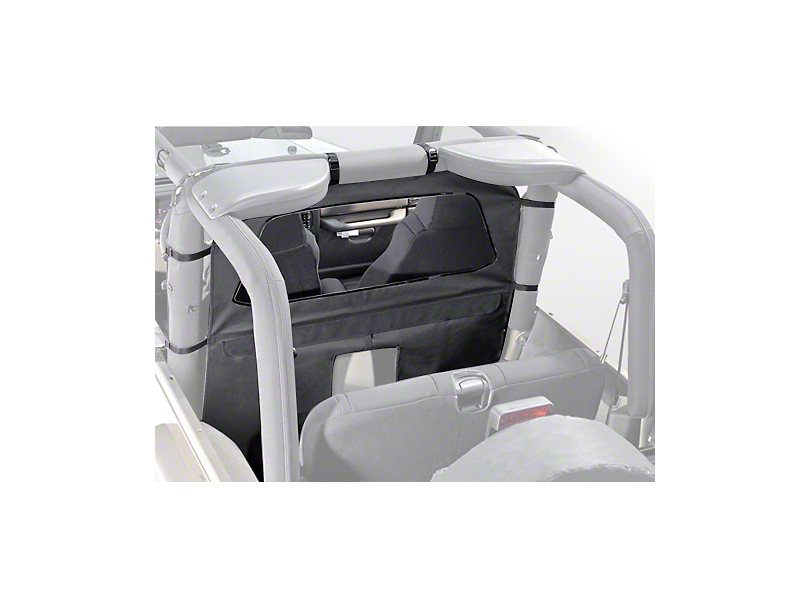 Rugged Ridge Roll Bar Curtain - Gray (87-06 Jeep Wrangler YJ & TJ)
