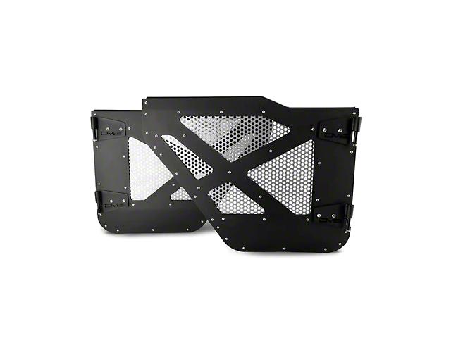 DV8 Offroad Half Doors with Aluminum Mesh; Rear (18-21 Jeep Wrangler JL 4-Door)