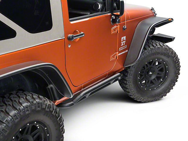 Rugged Ridge RRC Black Rocker Guards (07-18 Wrangler JK 2 Door)