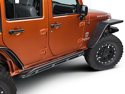 Rugged Ridge RRC Black Rocker Guards (07-18 Wrangler JK 4 Door)