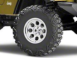 Mammoth 8 Aluminum Polished Wheel; 15x8 (97-06 Jeep Wrangler TJ)
