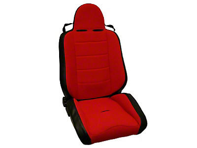 Rugged Ridge RRC Reclining Racing Seat - Red/Black (87-02 Jeep Wrangler YJ & TJ)