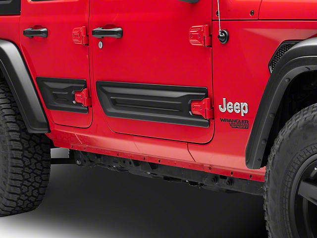 Air Design Door Rocker Panels; Satin Black (18-21 Jeep Wrangler JL 4 Door)