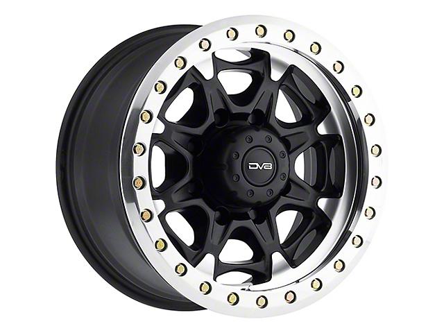DV8 Offroad 882 True Beadlock Matte Black Wheel; 17x8.5 (18-21 Jeep Wrangler JL)