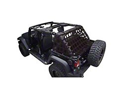 Dirty Dog 4x4 3-Piece Rear Netting Kit (07-18 Jeep Wrangler JK 4-Door)