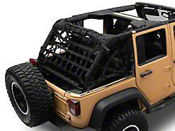 Dirty Dog 4x4 3-Piece Rear Spider Netting Kit (07-18 Jeep Wrangler JK 4-Door)