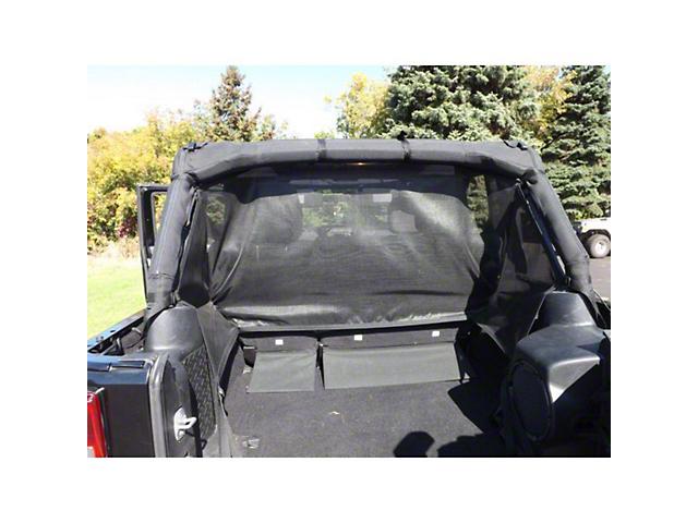 Dirty Dog 4x4 Rear Seat Pet Divider; Black (07-18 Jeep Wrangler JK 4-Door)
