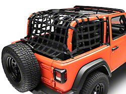 Dirty Dog 4x4 3-Piece Rear Netting Kit (18-21 Jeep Wrangler JL 2-Door)