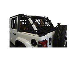 Dirty Dog 4x4 3-Piece Rear Netting Kit (18-21 Jeep Wrangler JL 4-Door)