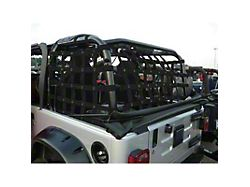 Dirty Dog 4x4 3-Piece Rear Netting Kit (97-06 Jeep Wrangler TJ, Excluding Unlimited)