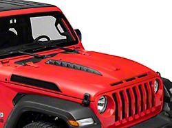 Unleash Series Hood with Functional Air Vents; Unpainted (18-21 Jeep Wrangler JL)