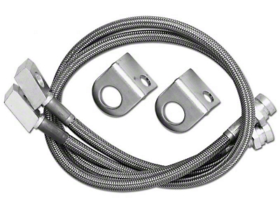 Rubicon Express Front Stainless Steel Brake Lines w/ 3.5-5.5 in. Lift (97-06 Jeep Wrangler TJ)