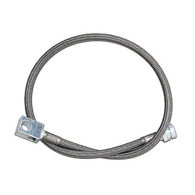 Rubicon Express Rear Stainless Steel Brake Line w/ 2.5-5.5 in. Lift (87-95 Jeep Wrangler YJ)