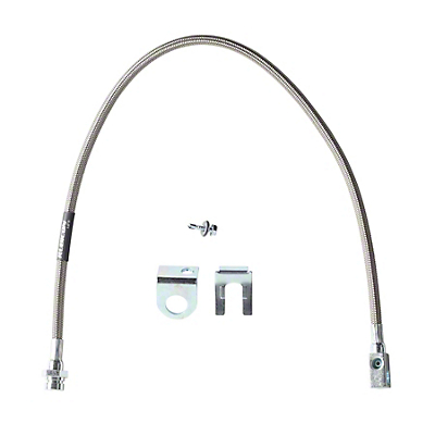 Rubicon Express Rear Stainless Steel Brake Line for 3.5-5.5 in. Lift (97-06 Wrangler TJ)