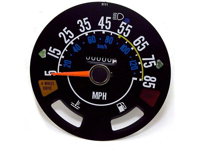 Speedometer Gauge (80-86 Jeep CJ5 & CJ7)