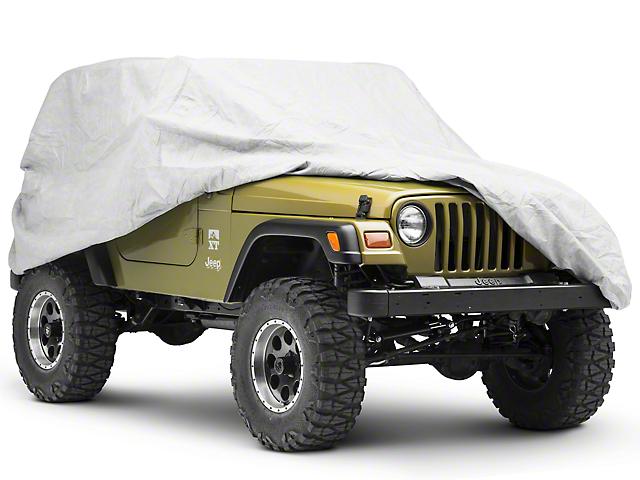Rugged Ridge Full Car Cover Kit - Gray (87-06 Jeep Wrangler YJ & TJ)