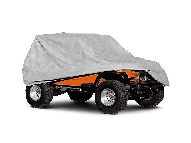 Rugged Ridge Full Car Cover Kit - Gray (04-06 Jeep Wrangler TJ Unlimited; 07-18 Jeep Wrangler JK 4 Door)