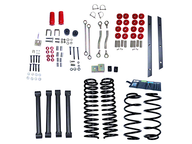Rugged Ridge 4-Inch Suspension Lift Kit (97-02 Jeep Wrangler TJ)