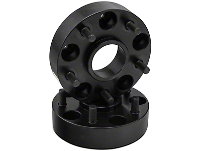 Rugged Ridge Black 5 on 5 Bolt 1.5 in. Wheel Spacer Pair (07-17 Wrangler JK)