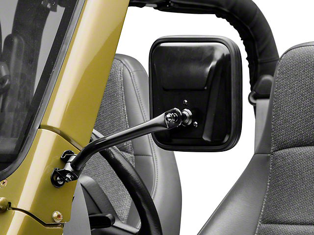 Rugged Ridge Black CJ Style Mirror Kit (97-06 Wrangler TJ)