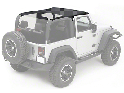 Rugged Ridge Pocket Summer Brief Top - Black Diamond (07-09 Wrangler JK 2 Door)