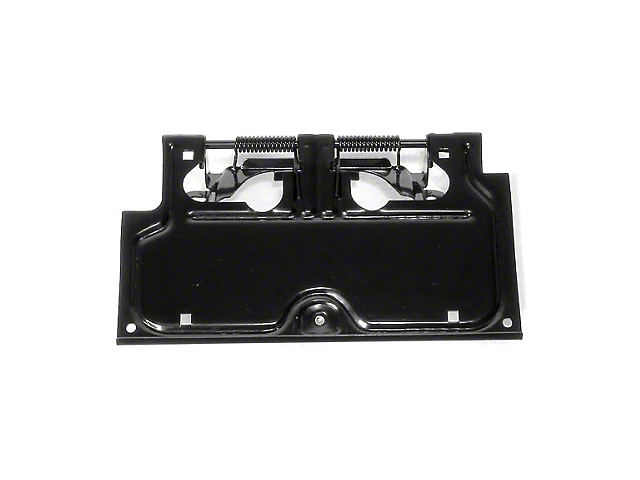Rugged Ridge Black License Plate Bracket (87-95 Jeep Wrangler YJ)