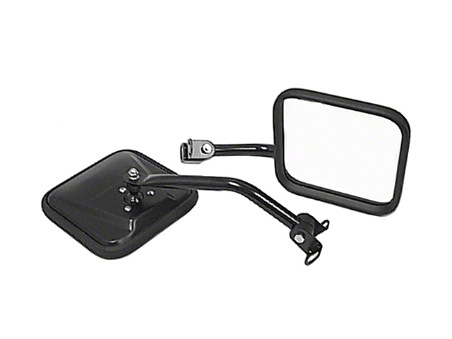 Rugged Ridge CJ-Style Door Mirrors - Black (87-95 Jeep Wrangler YJ)