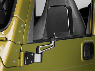 Rugged Ridge Black Mirrors (87-02 Wrangler YJ & TJ)