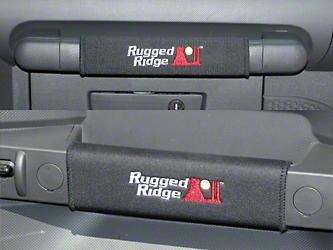 Rugged Ridge Black Neoprene Door & Grab Bar Handle Cover Kit (07-10 Jeep Wrangler JK 2 Door)