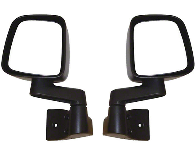 Rugged Ridge Black Non Folding Mirror Pair (87-06 Jeep Wrangler YJ & TJ)