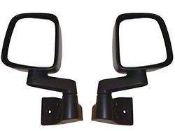 Rugged Ridge Door Mirrors; Black (87-06 Jeep Wrangler YJ & TJ)