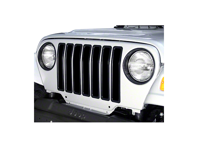 Rugged Ridge Grille Inserts; Black (97-06 Jeep Wrangler TJ)