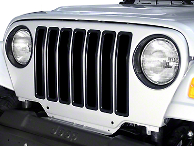 Rugged Ridge Plastic Grille Inserts - Black (97-06 Jeep Wrangler TJ)