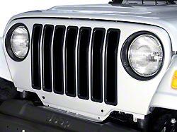 Rugged Ridge Plastic Grille Inserts - Black (97-06 Jeep Wrangler TJ)
