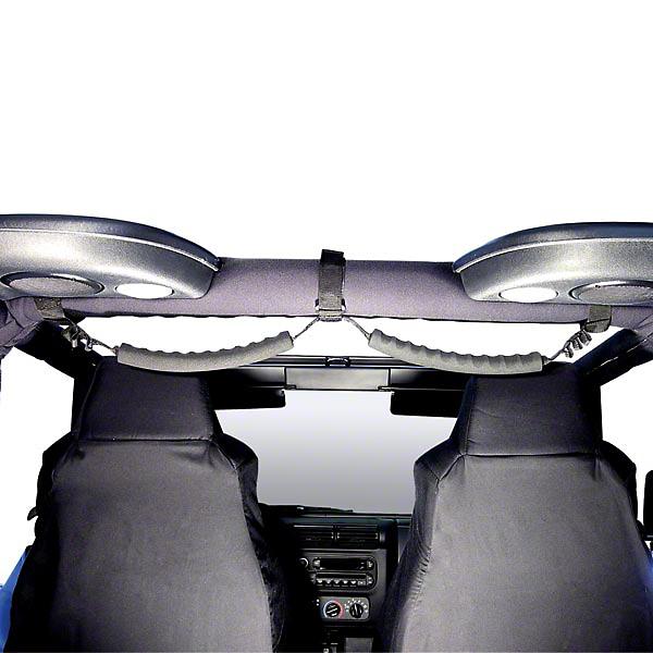 Rugged Ridge Black Rear Dual Grab Strap (87-06 Wrangler YJ & TJ)