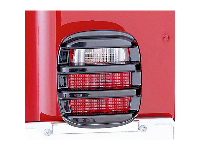 Rugged Ridge Tail Light Covers; Smoked (87-06 Jeep Wrangler YJ & TJ)