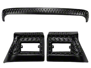 Rugged Ridge Body Armor Diamond Textured Black Plastic 3pc Kit (97-06 Wrangler TJ)