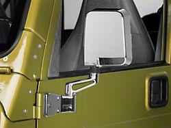Rugged Ridge Chrome Door Mirror - Driver Side (87-02 Jeep Wrangler YJ & TJ)