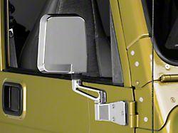 Rugged Ridge Chrome Door Mirror - Passenger Side (87-02 Jeep Wrangler YJ & TJ)