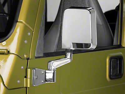 Rugged Ridge Dual Focal Door Mirrors w/ LED Turn Signals - Chrome (87-02 Jeep Wrangler YJ & TJ)
