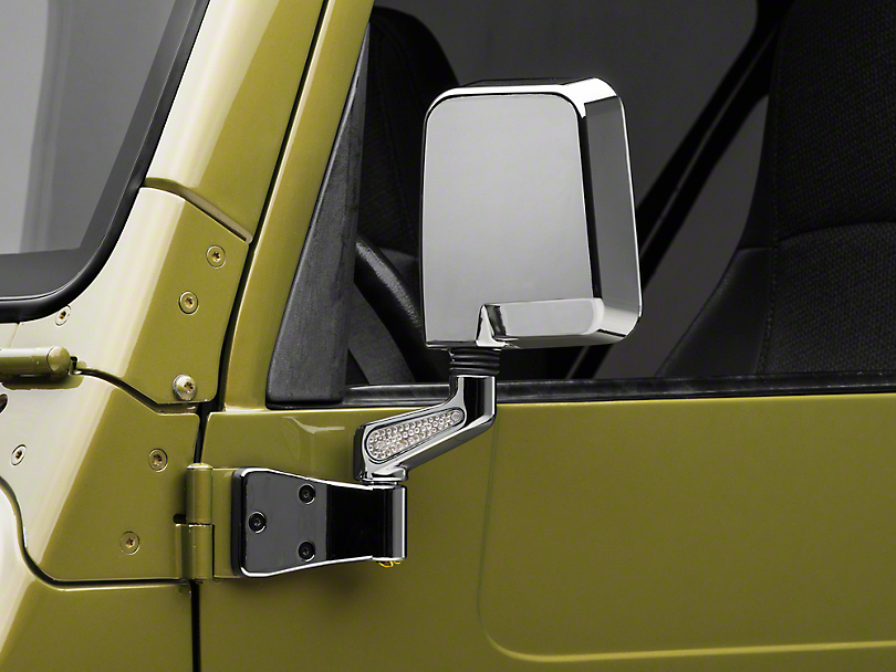 Rugged Ridge Chrome Mirrors w/ LED Lights (87-02 Jeep Wrangler YJ & TJ)