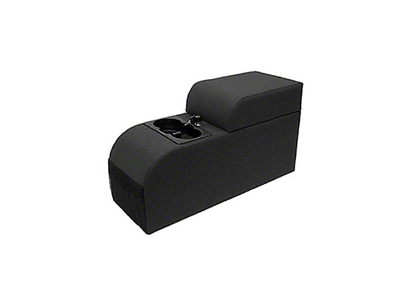 Rugged Ridge Contoured Locking Console - Black Vinyl (87-95 Jeep Wrangler YJ)