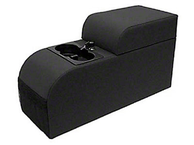 Rugged Ridge Contoured Locking Console - Black Vinyl (87-95 Wrangler YJ)
