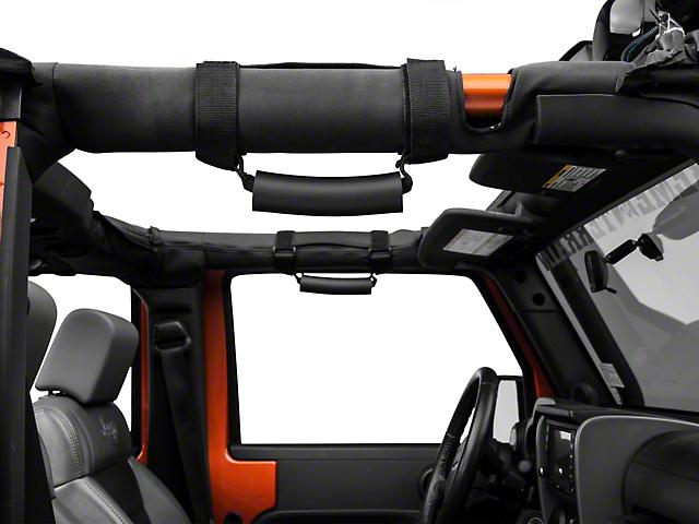 Rugged Ridge Deluxe Sport Bar Handles - Black (87-18 Jeep Wrangler YJ, TJ, JK & JL)