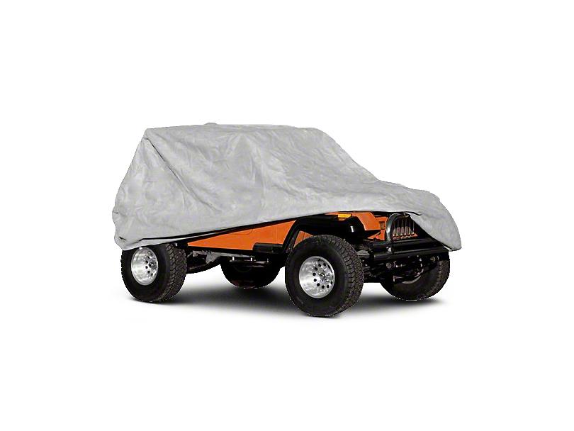Rugged Ridge Deluxe Three Layer Full Car Cover (04-06 Jeep Wrangler TJ Unlimited; 07-18 Jeep Wrangler JK 4 Door; 18-20 Jeep Wrangler JL 4 Door)