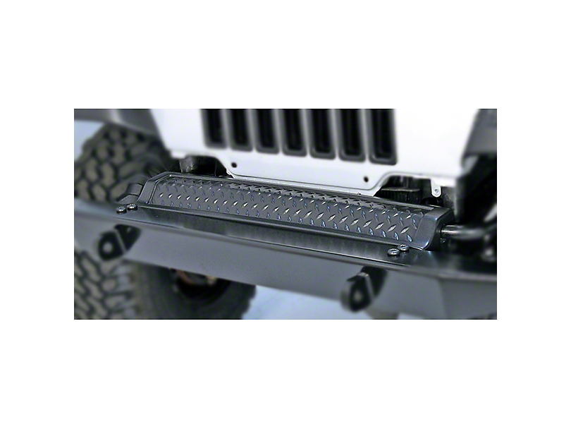 Rugged Ridge Diamond Textured Black Plastic Front Frame Cover (97-06 Jeep Wrangler TJ)