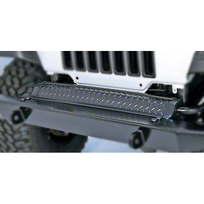 Rugged Ridge Diamond Textured Black Plastic Front Frame Cover (97-06 Wrangler TJ)
